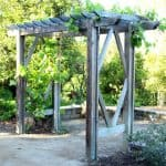 How to build a beautiful DIY pergola ( beginner friendly DIY grape arbor )! Free building plan with step by step drawings and lots of detailed photos. Build it easily for your garden without buying pergola kits! - A Piece of Rainbow