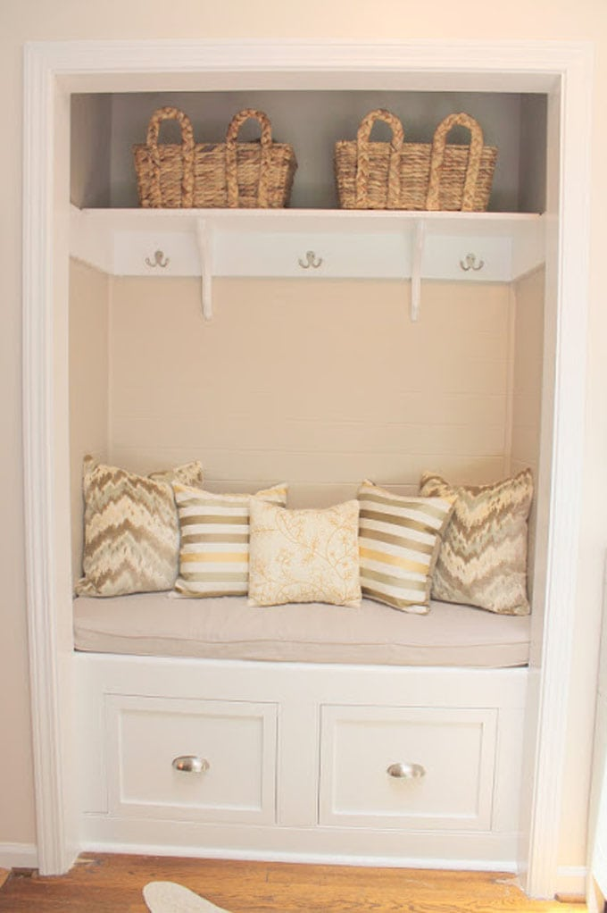 farmhouse style entry closet before after