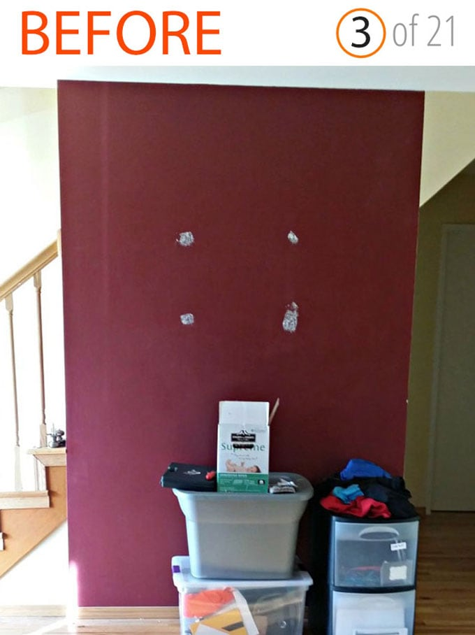 entryway color wall