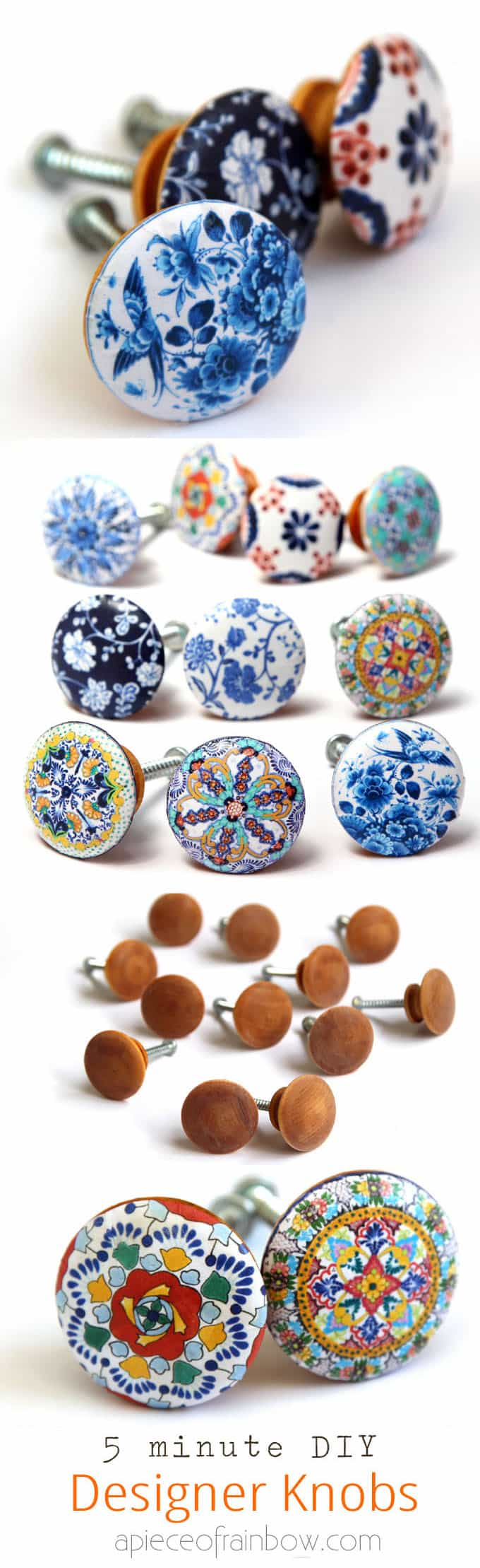Anthropologie Worthy DIY Cabinet Or Door Knobs That Look Like Hand Painted  Designer Ceramic Knobs!