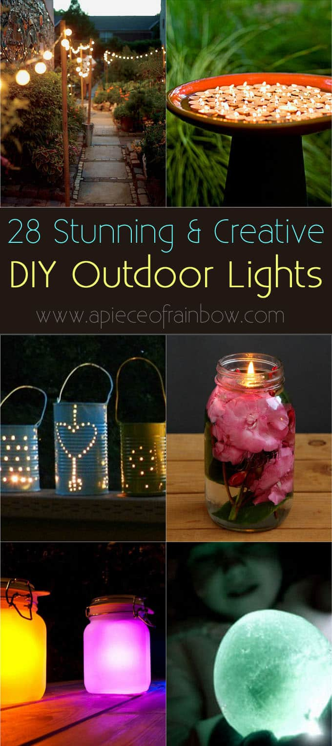 DIY outdoor lights apieceofrainbowblog 1 28 Stunning DIY Outdoor Lighting