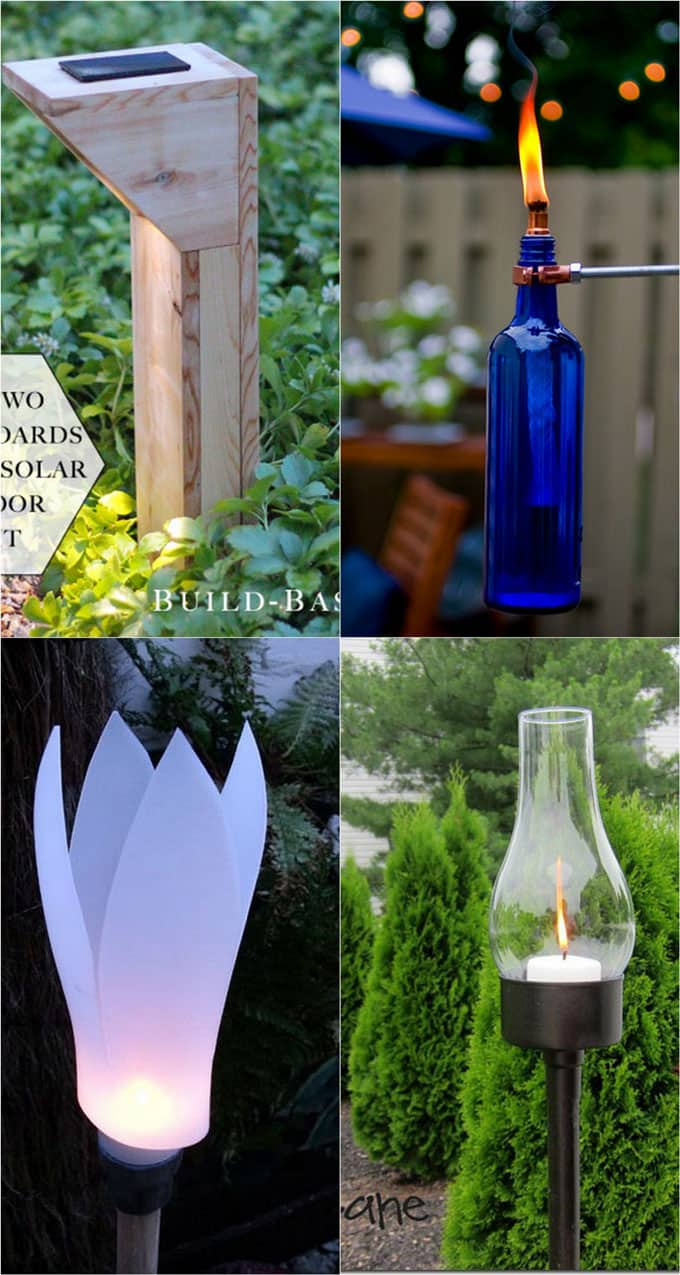 DIY outdoor path lights