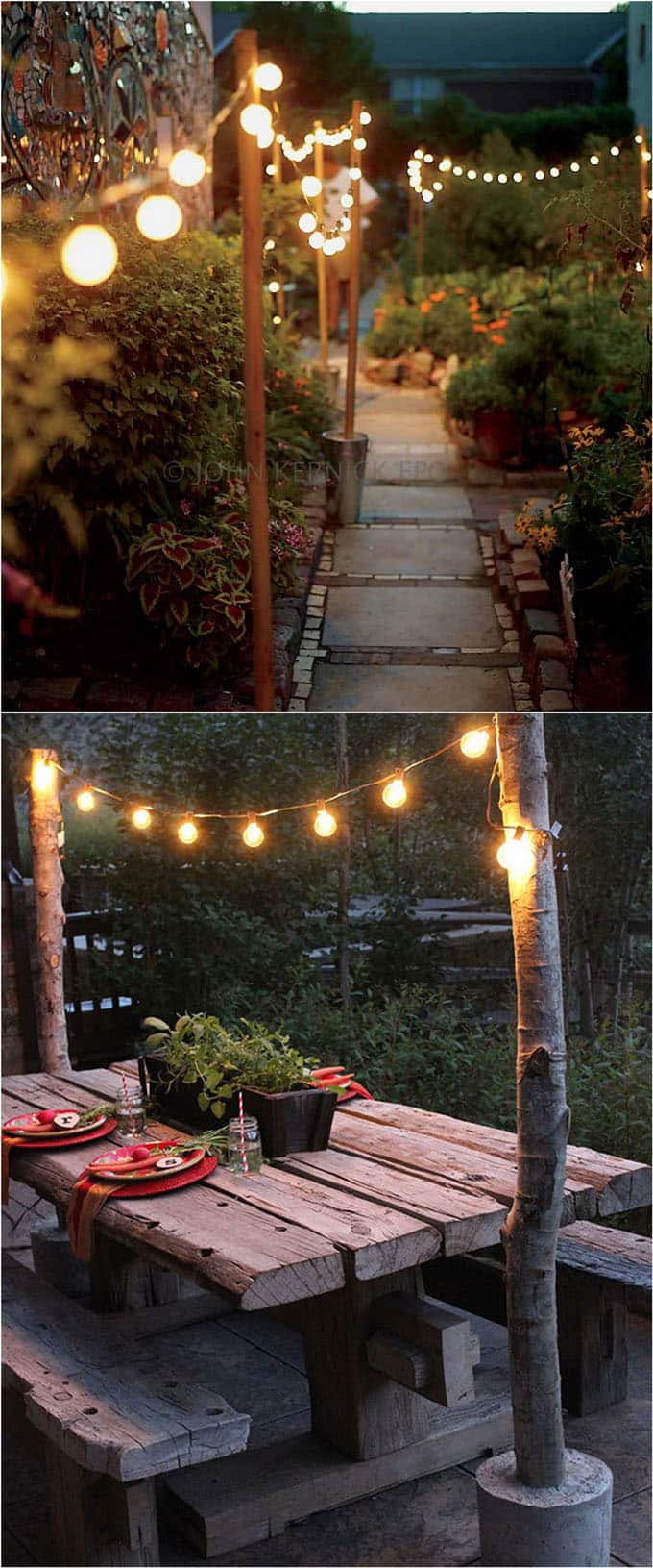 Bon DIY Outdoor Lighting Ideas For Patios And Walkways