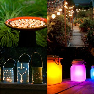 Amazing collection of 28 stunning yet easy DIY outdoor lights! Most can be made in 1 hour, with up-cycled or common materials. So creative and beautiful! - A Piece Of Rainbow
