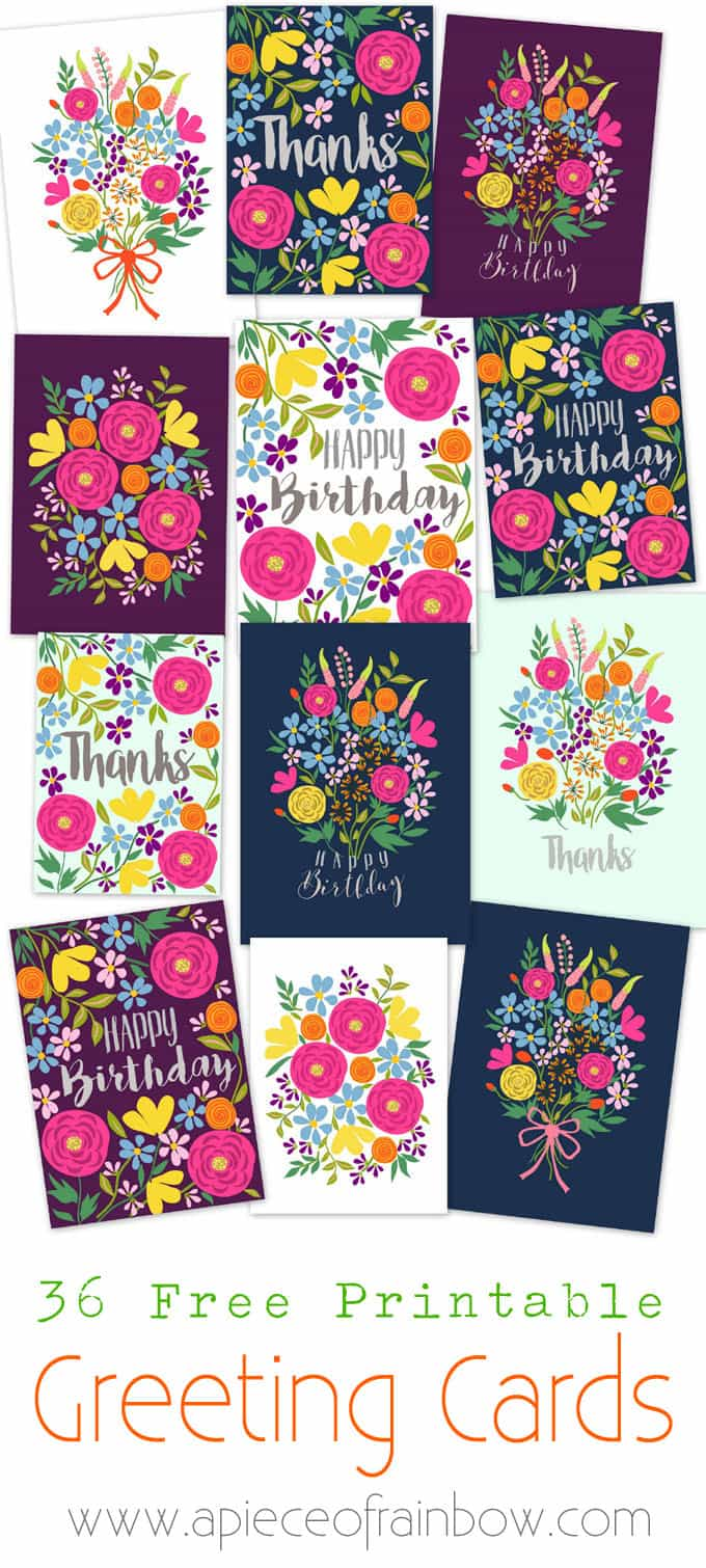 Free printable happy birthday card with pop up bouquet a piece of a set of gorgeous floral printable greeting cards free templates to download and make your m4hsunfo