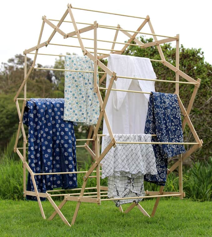 Diy Star Shaped Clothes Drying Rack A Piece Of Rainbow