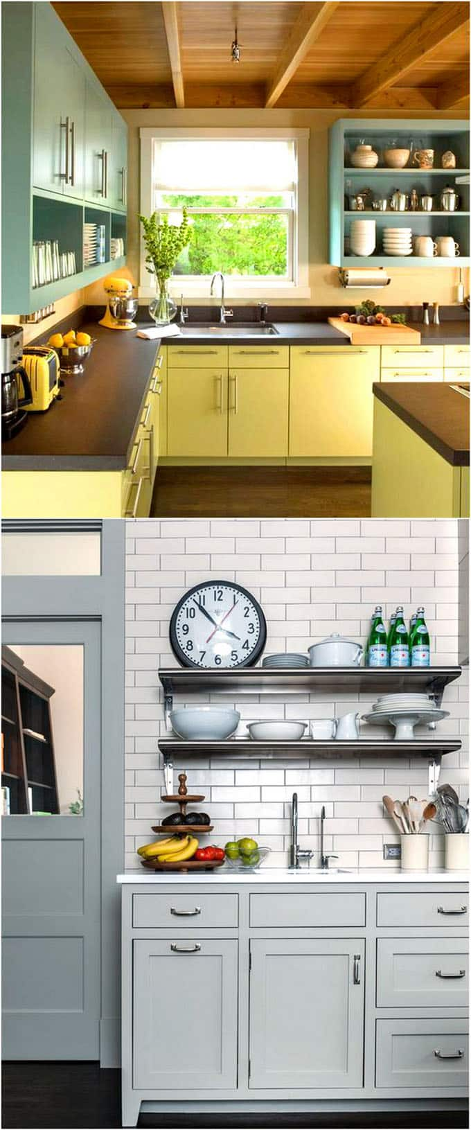 lovely colorful kitchen | 25 Gorgeous Kitchen Cabinet Colors & Paint Color Combos ...
