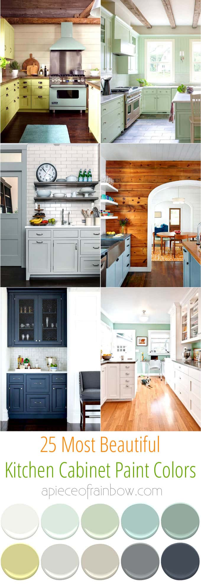 25 Gorgeous Kitchen Cabinet Colors & Paint Color Combos - A Piece Of on refacing kitchen cabinets, kitchen flooring, white kitchen cabinets, furniture colors, refinishing kitchen cabinets, kitchen base cabinets, how to install kitchen cabinets, kitchen design, how to paint kitchen cabinets, kitchen backsplash, cottage kitchen colors, kitchen color combinations, kitchen ideas, living room colors, kitchen pantry cabinet, rustic kitchen cabinets, kitchen color selector, black kitchen cabinets, unfinished kitchen cabinets, kitchen pantry cabinets, staining kitchen cabinets, green kitchen colors, ceiling colors, choosing kitchen cabinets, kitchen color palettes, resurfacing kitchen cabinets, kitchen cabinets product, kitchen remodel, kitchen wall cabinets, ideas for painting kitchen cabinets, kitchen island, kitchen cabinet design ideas, painting kitchen cabinets, kitchen cabinet design software, glazing kitchen cabinets, kitchen wall colors, wood colors,