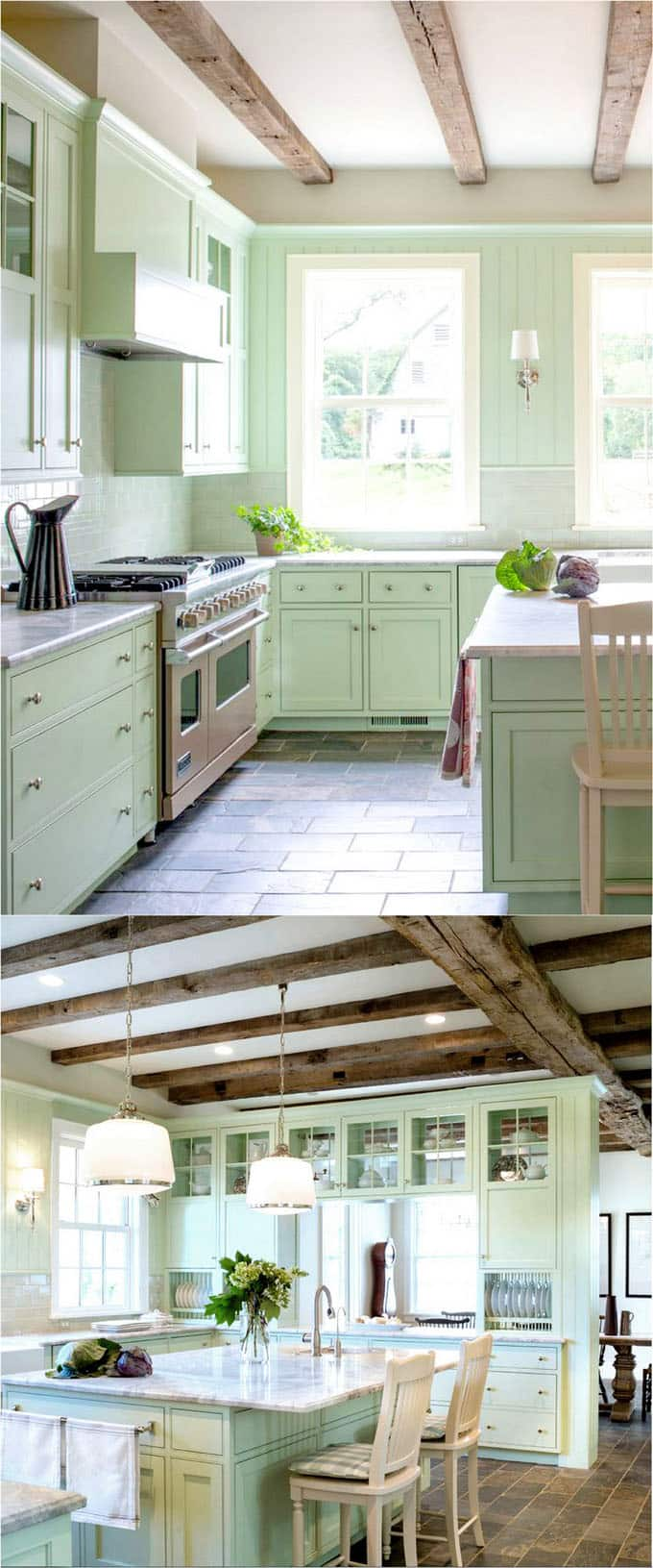 25 Gorgeous Kitchen Cabinet Colors & Paint Color Combos - A ...