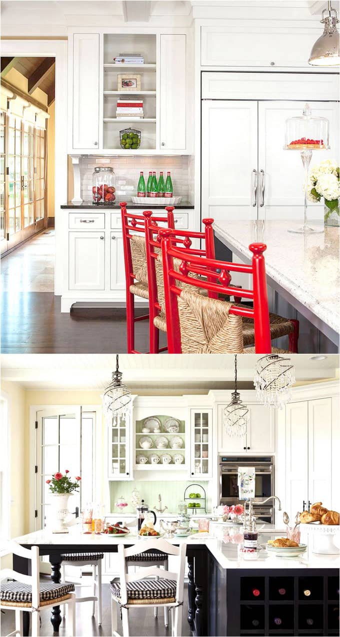 fixer upper kitchen style white kitchen cabinets