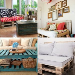 12 easiest and great looking pallet sofas and coffee tables that one can make in just an afternoon. Detailed tutorials and lots of great resources! - A Piece Of Rainbow