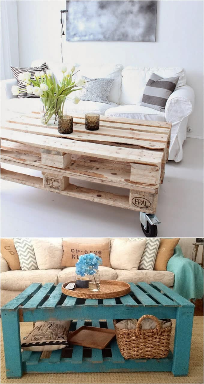 12 easy pallet sofas and coffee tables to diy in one afternoon a piece of rainbow - Diy projects with wooden palletsideas easy to carry out ...