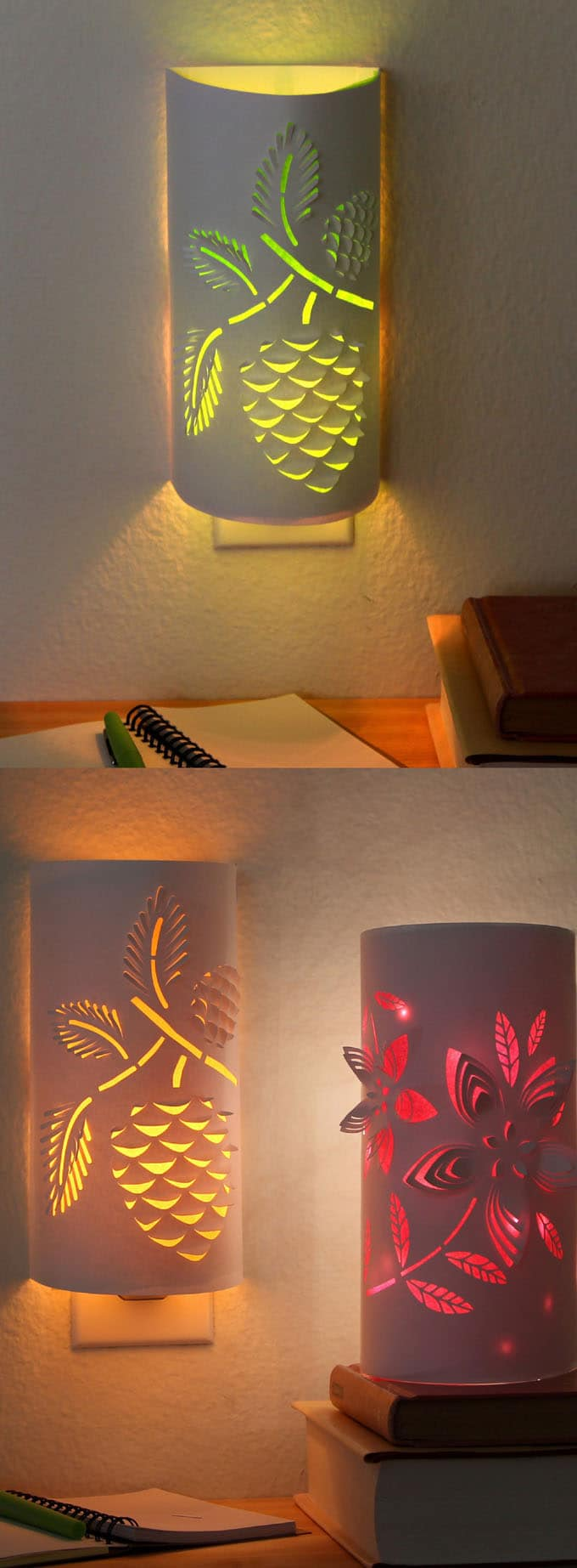 Diy Paper Night Light A Piece Of Rainbow