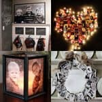 18 creative ways to transform family photos into gifts & beautiful decor, from easy DIY canvas photo prints, to photo letters, wreaths, luminaries, & more!