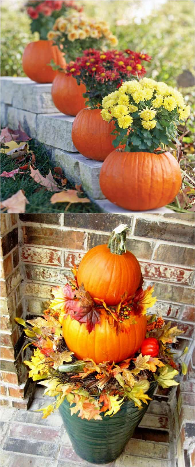 25 splendid front door diy fall decorations a piece of for Pictures of fall decorations for outdoors