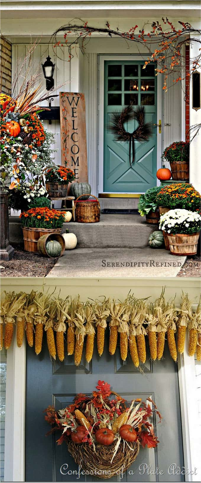 25 Front Door Fall Decorations Apieceofrainbow 4
