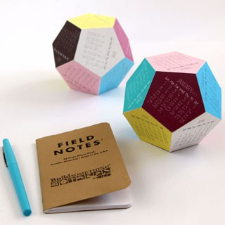 Make a super fun and unique 2017 dodecahedron 3D printable calendar! Free templates include color, black and white designs, and Silhouette cutting files! - A Piece Of Rainbow