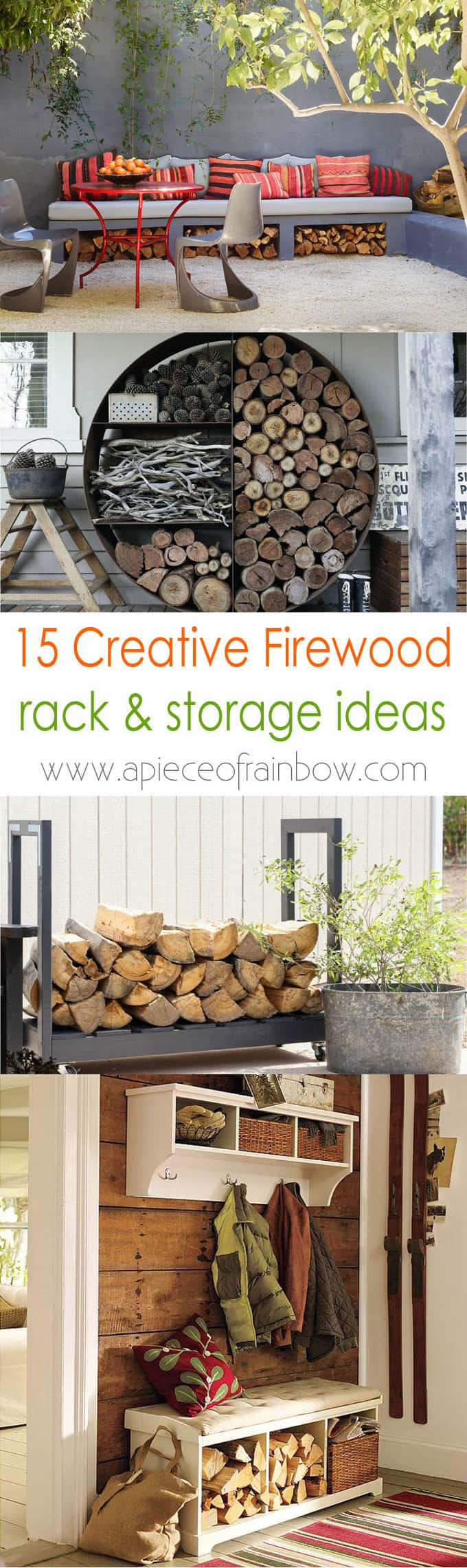 15 Firewood Storage And Creative Firewood Rack Ideas For Indoors And  Outdoors. Lots Of Great