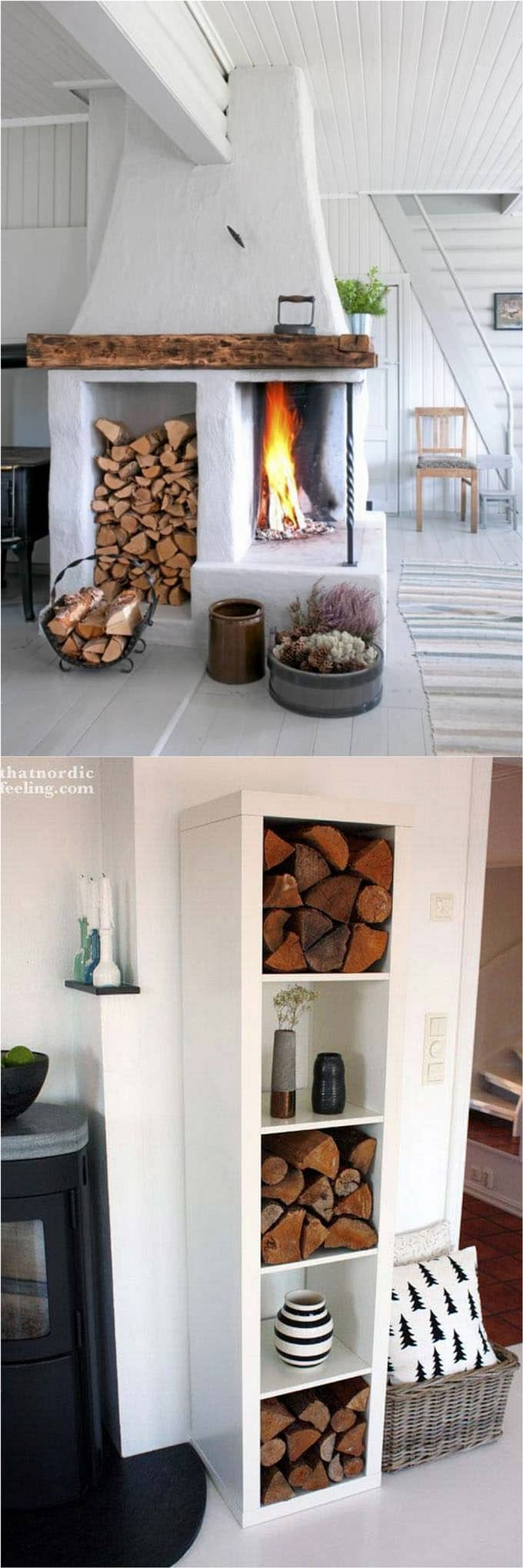 15 Creative Firewood Rack and Storage Ideas A Piece Of Rainbow
