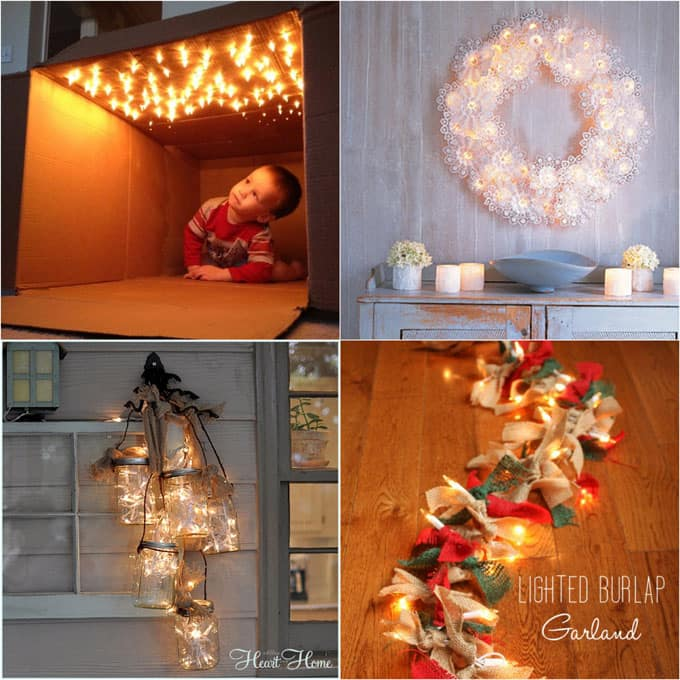 18 magical ways to use string lights to add warmth and beauty to your home: great ideas for holiday decorations and everyday cheer! - A Piece Of Rainbow