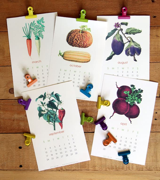 Free 2017 vegetable garden calendar a piece of rainbow for Gardening 2016 calendar