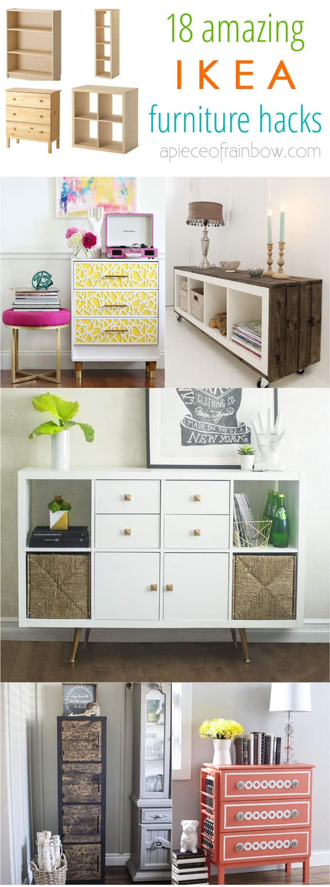 ikea furniture hacks. Ikea-hacks-custom-furniture-apieceofrainbow-13 Ikea Furniture Hacks