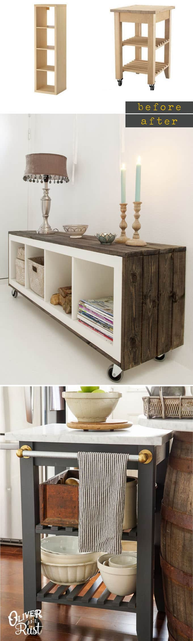 ikea furniture hacks. Ikea-hacks-custom-furniture-apieceofrainbow Ikea Furniture Hacks