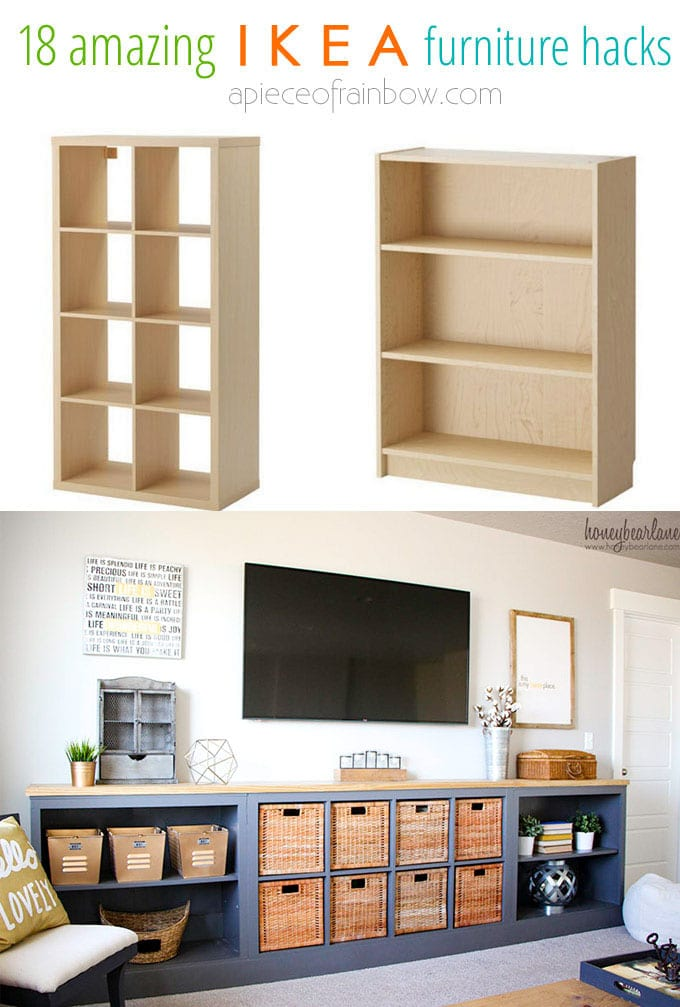 Living room storage unit IKEA hacks