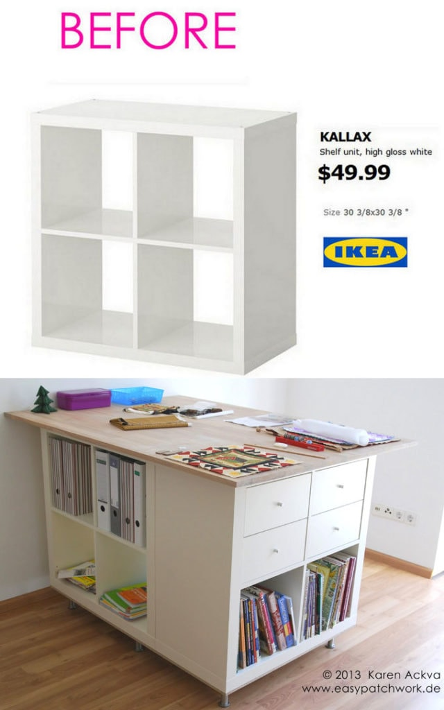 Craft room table or sewing table IKEA hack