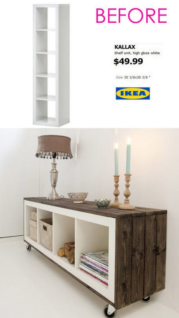 Reclaimed wood Ikea hacks