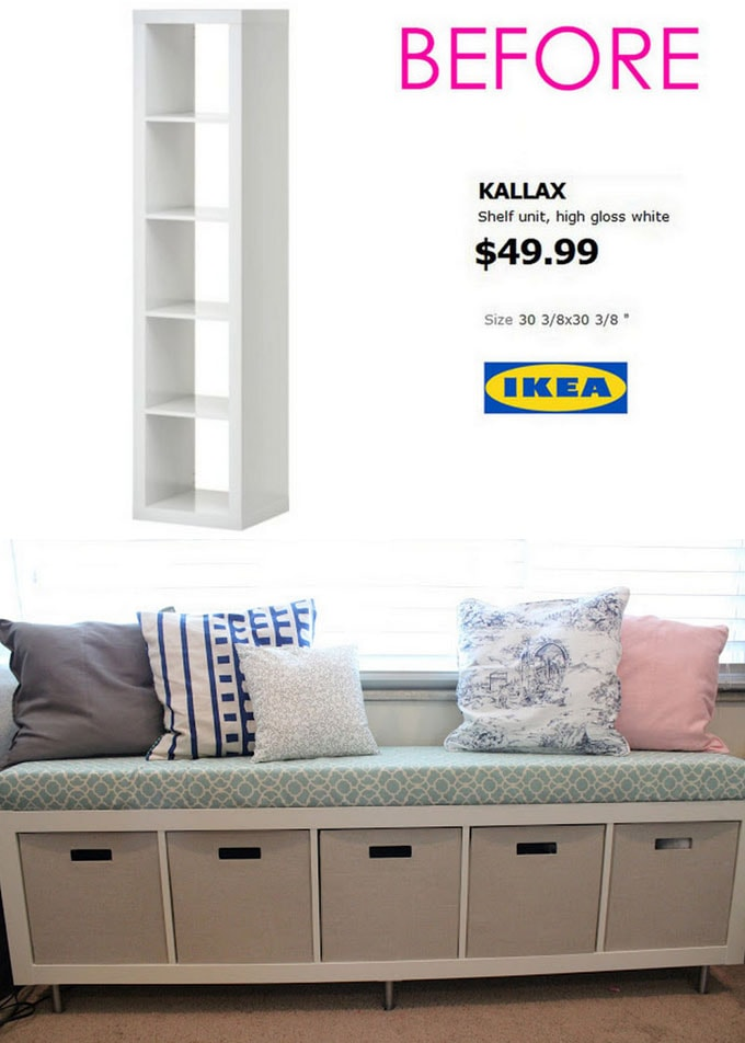 Window seat bedroom Ikea hacks