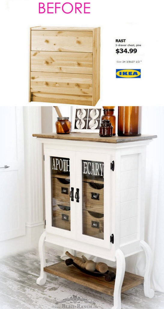 Farmhouse style Ikea dresser hack