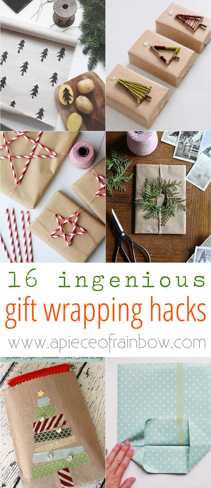 16 ingenious gift wrapping hacks a piece of rainbow 16 gift wrapping hacks apieceofrainbow 10 negle Images
