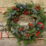 Make a beautiful Christmas wreath using fresh evergreen cuttings in 20 minutes! Looks great year round! Detailed tutorial and video included. - A Piece Of Rainbow