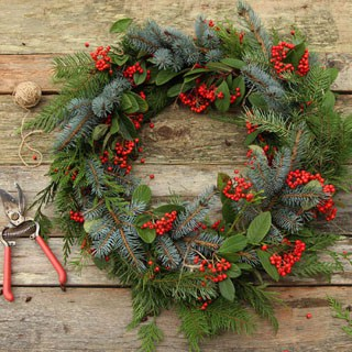 Make a Fresh Christmas Wreath in 20 Minutes A Piece #1: DIY fresh Christmas wreath apieceofrainbow 320