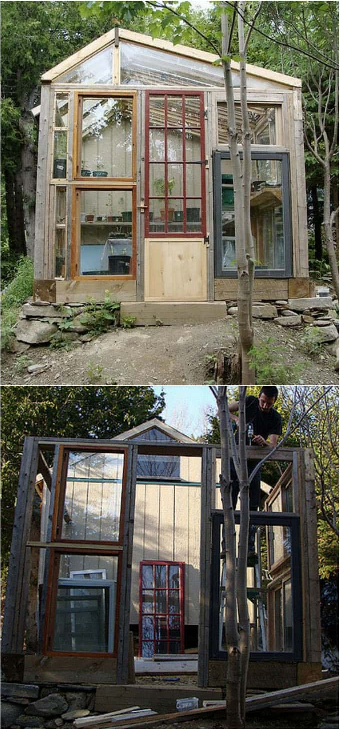 12 Most Beautiful DIY Shed Ideas with Reclaimed Windows - A