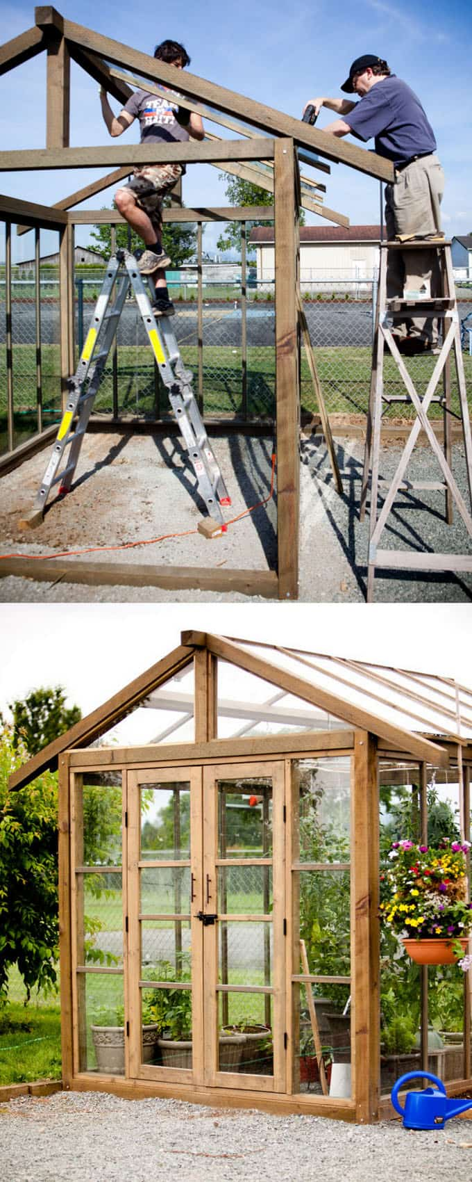 12 diy dream sheds and greenhouses with reclaimed windows for Reclaimed window greenhouse
