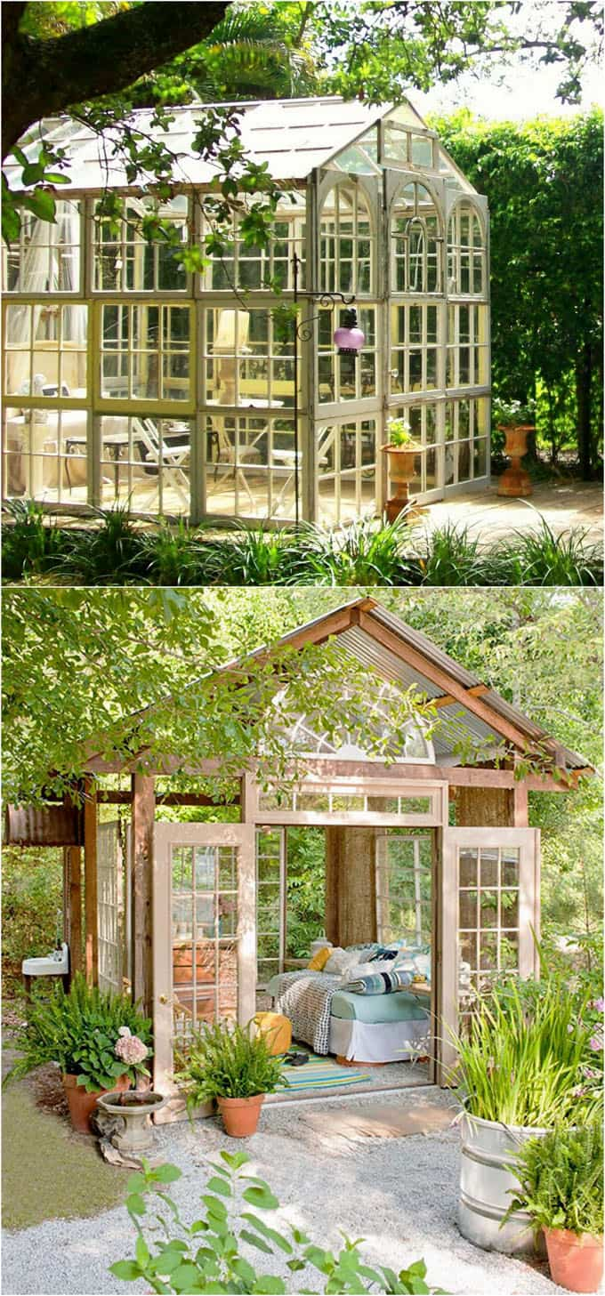 12 Most Beautiful DIY Shed Ideas with Reclaimed Windows ...