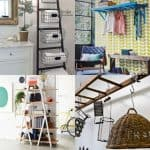 18 inspiring ladder hacks for every room. How to build blanket ladders, ladder shelves, re-purposed ladder furniture and organizing systems. - A Piece Of Rainbow