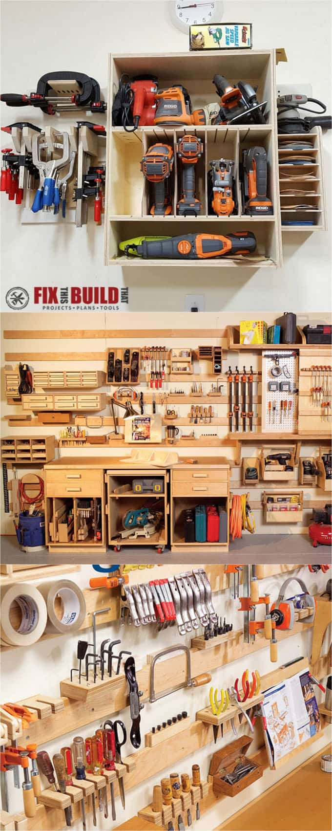 21 great ways to easily organize your workshop and craft room page 2 of 2 a piece of rainbow - How to build a cheap house handy solutions ...
