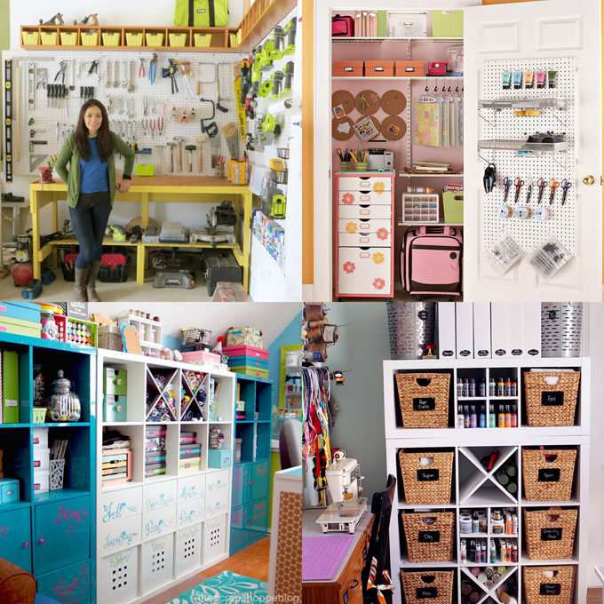 21 best DIY workshop & craft room ideas on creative storage & organization utilizing pegboards, shelving, closet & wall for a productive clutter free space!