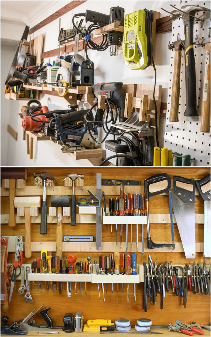 pegboard workshop tool organizing