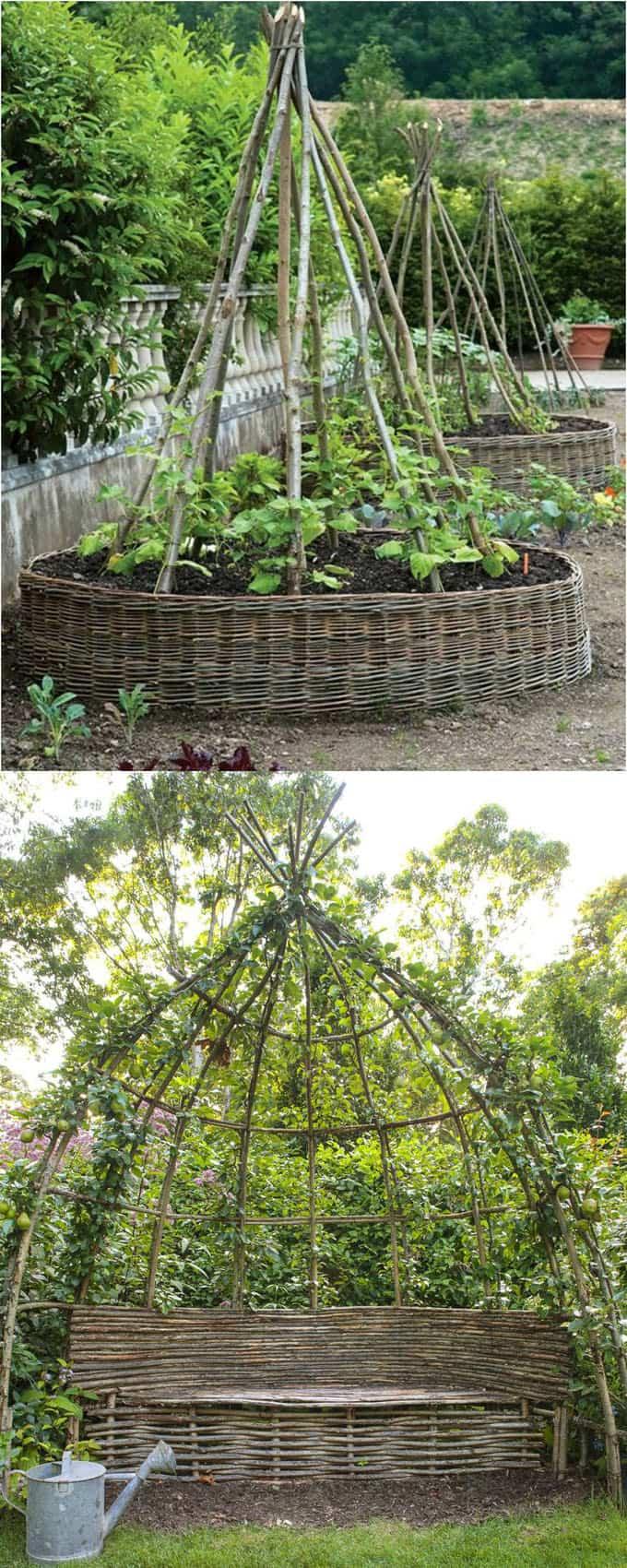 21 easy diy trellis vertical garden structures page 3 for Garden structure designs