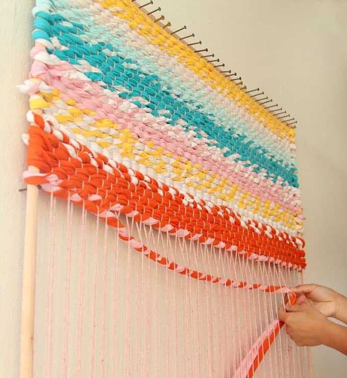 Weave A Boho T-shirt Rag Rug With Easy DIY Loom