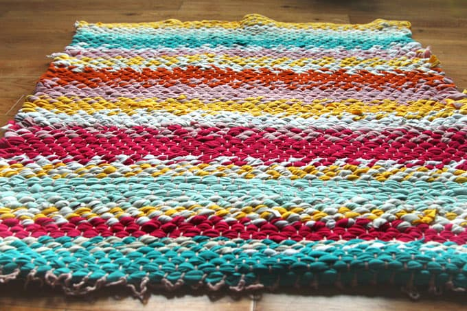 Boho T Shirt Rag Rug With Easy Diy Loom