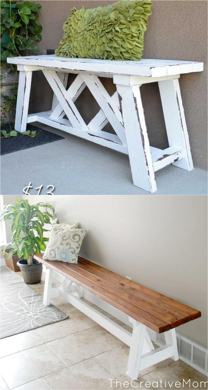 21 Gorgeous Easy Diy Benches Beginner Friendly Tutorials For