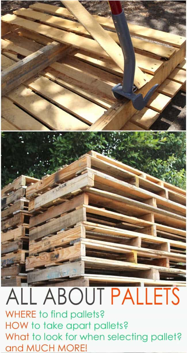 A detailed guide on where to find pallets and how to work with pallet wood.