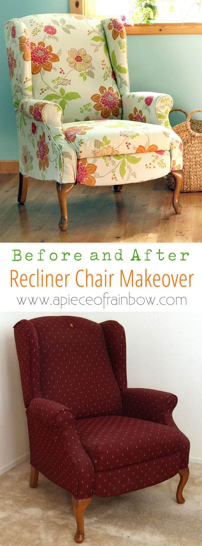 Fabric Chair Makeover Before After Page 2 Of 2 A Piece