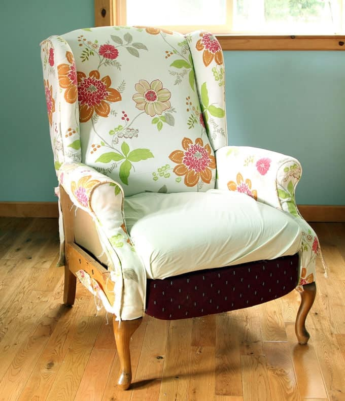 Fabric Chair Makeover Before After A Piece Of Rainbow