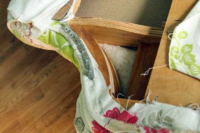 How to use flexibe tack strip for upholstery. Dramatic before after transformation and detailed tutorial on how to makeover an upholstered recliner chair, and lots of helpful tips for beginners. A Piece Of Rainbow